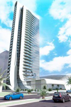 A 33-storey Office Tower design in Izmir.