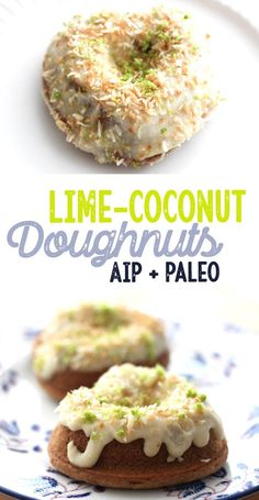 Lime-Coconut Doughnuts (AIP, Paleo, gluten free) - [low allergen and anti-inflammatory recipes from rally pure] autoimmune protocol compliant, dairy free, grain free, top 8 free, egg free, nut free
