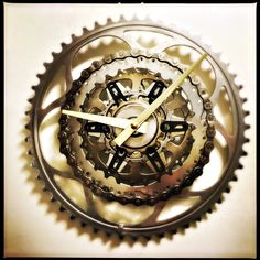A personal favorite from my Etsy shop https://www.etsy.com/listing/266161908/steampunk-wall-clock-bicycle-clock