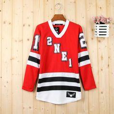 Kpop 2NE1 Bom Park 21 red hoodie sweater
