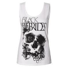 Black Veil Brides Skullogram Vest (White)