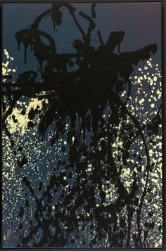 blastedheath: Hans Hartung (German-French, 1904-1989), T1988-K26, 1988. Acrylic on canvas, 92 x 60 cm.