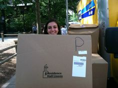 All smiles! Student showing some RHL love all prepped and ready for move-in!