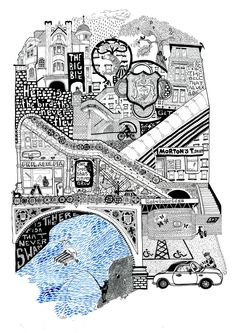Libby Walker is an illustrator and maker based in Glasgow. Opening its doors in Libby works from her studio shop in Southside's Strathbungo. Long Way Home, Glasgow, Screen Shot, Spring Time, Digital Prints, Scotland, City Photo, Wall Decor, Urban