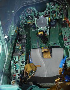 1960s Dassault Mirage 3S cockpit