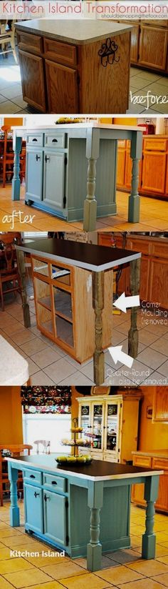 DIY Guide For Making A Kitchen Island #diykitchenisland #smallwoodcrafts