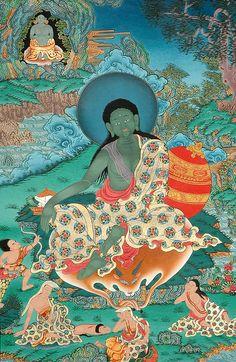 The Buddhist saint and yogi, Milarepa. Three Kinds of Confidence I've gained… Buddhist Art, Buddhist Teachings, Tibetan Art, Tibetan Buddhism, Tibetan Mandala, Ganesha, Vajrayana Buddhism, Beyond Good And Evil, Spirituality