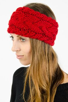 Cable Knit Headband $6.99 (in black)