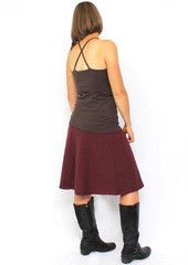 jersey skirts with boots