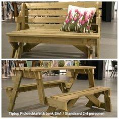 FeelGood Market online:Opklapbare Picknicktafel & bank 2in1 -2/4 personen