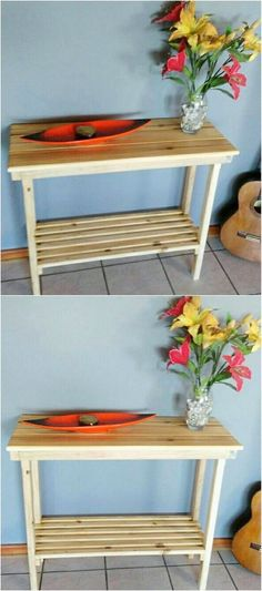 Here the simple yet creative impressive designing of the pallet end table has been carried out. If you want to set your house with moderate in size and yet amazing piece of the wood pallet end table, then do catch this image idea right now.