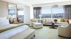 The Ritz Carlton, L.A., Junior Suite with a fabulous view of southern California.