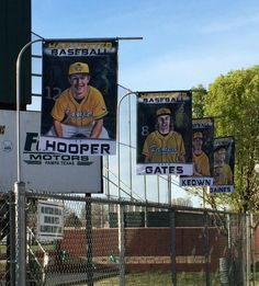 We would like to thank Pampa High School for choosing us to create their custom senior baseball banners. Also, thank you for sending us a picture of the banners hanging up like flags by the field. It means a lot when we get pictures of your final product with the customers means we are doing something right! The banners were a great addition to their field as they showed off the seniors. Make sure to recognize your seniors for your season.