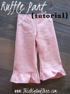 This Big Oak Tree: Embroidered Ruffle Pant {tutorial} & IKEA Hack!