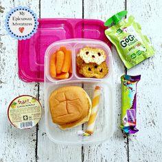 Lunch Box Fun Weeks - My Epicurean Adventures Back To School Lunch Ideas, School Lunch Box, Kids Packed Lunch, Lunch Kids, Easy Lunch Boxes, Box Lunches, Popcorn Shrimp, Chicken Patties, Healthy School Lunches