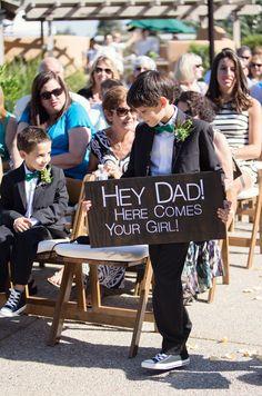 Hey Dad DIY Handmade Wedding Sign. Something Similar for Ady