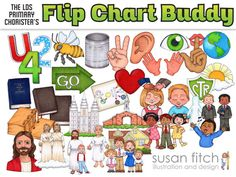 LDS Primary Song Leader Flip Chart Clip Art by SusanFitchDesign