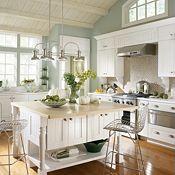 Kenston PureStyle™ Laminte White Kitchen Cabinets... Color scheme for kitchen