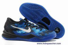 buy online 984e8 4c2ab Nouveau Noir Bleu Shoes Femmess Nike Kobe 8 Kobe Bryant 8, Kobe 8 Shoes,