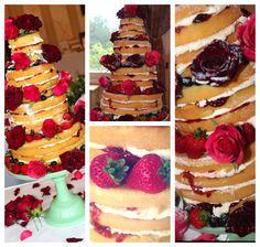 Naked Cake, Un iced cake wedding cake, Fruit, Rustic, natural! Kissmycake.co.uk