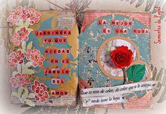 Sementes de papel: Mixed Media. Art journaling. Flowers