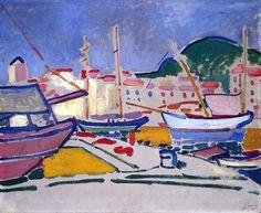 André Derain (1880-1954) was een Frans kunstschilder en beeldhouwer, die ook actief was als sieraadontwerper. Derain volgde de kunstacademie, waar hij bevriend raakte met Henri Matisse. In 1900 huurde hij een studio met Maurice de Vlaminck en begon hij met het schilderen van zijn eerste landschappen. Matisse, Derain en De Vlaminck worden beschouwd als de grondleggers van het fauvisme.
