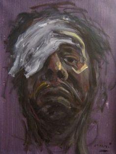 "Saatchi Online Artist Masri Hayssam; Painting, ""Self portrait"" #art"