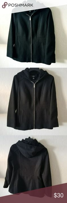 Avanti Black Jacket Worn one time. Wish I can keep it but it's now small for my bust after childbearing. Perfect for cold weather avanti Jackets & Coats Jean Jackets