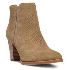 Women's Franco Sarto 'Dipali' Block Heel Bootie (€105) ❤ liked on Polyvore featuring shoes, boots, ankle booties, camel suede, cowboy boots, short cowgirl boots, tall cowgirl boots, ankle boots and tall boots