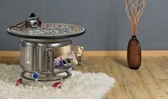 """Super cool, conceptual, futuristic little side table. Raumobjekt """"cap"""" : Other artistic objects by Fraktali"""