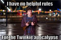 """""""There's a box of Twinkies in that grocery store. Not just any box of Twinkies, the last box of Twinkies that anyone will enjoy in the whole universe. Believe it or not, Twinkies have an expiration. Little Rock, Film Pictures, Funny Pictures, Zombieland 2, Chandler Riggs, Cinematic Photography, Travel Photography, Friday Humor, Funny Friday"""