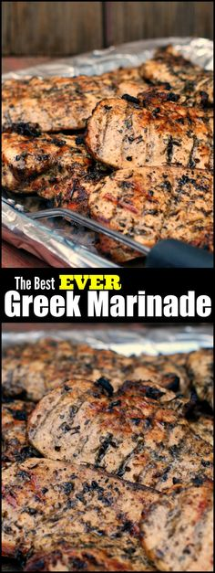 The Best Greek Marinade for Chicken, Steak & Pork - Aunt Bee's Recipes You will not BELIEVE the secret to the juiciest grilled chicken ever! We had been doing it ALL WRONG! (Whole Chicken Marinade) Grilling Recipes, Pork Recipes, Cooking Recipes, Greek Food Recipes, Recipes Dinner, Barbecue Recipes, Greek Chicken Recipes, Barbecue Ribs, Gastronomia