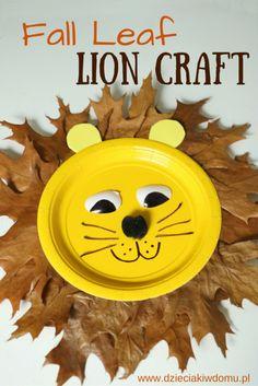 fall leaf lion craft for kids