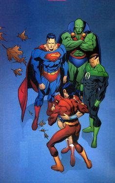 #Justice #League #Of #America #Fan #Art. (Justice League of America) By: Ron Garney. (THE * 5 * STÅR * ÅWARD * OF: * AW YEAH, IT'S MAJOR ÅWESOMENESS!!!™)[THANK Ü 4 PINNING!!!<·><]<©>ÅÅÅ+(OB4E)