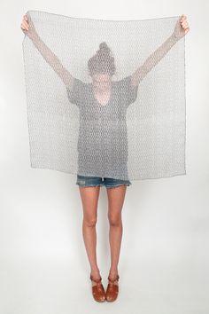 ilana khan hatch print scarf