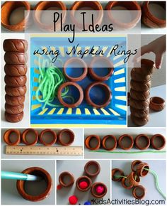 Take seemingly ordinary things around your house and turn them into play ideas and learning opportunities.  And you won't need to look far from the table for these great activities.  Here are 7 different play ideas using napkin rings. And of course there's some sneaky learning going on, too.  You can count on Kids Activities Blog to supply you …