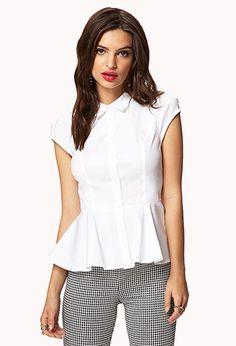 Peplum Dress Shirt | FOREVER21 - 2034866736