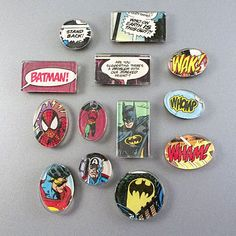 Superhero Comic Book Magnets: Recycle old comic books into cool magnets! It's easy to do and they make great gifts. A fun boy craft too!