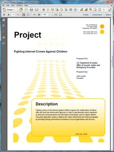 DOJ Federal Government Grant Proposal #2 - The US Department of Justice Federal Government Grant Proposal is an example of a proposal using Proposal Pack to respond to a government RFP. Create your own custom proposal using the full version of this completed sample as a guide with any Proposal Pack. Hundreds of visual designs to pick from or brand with your own logo and colors. Available only from ProposalKit.com (come over, see this sample and Like our Facebook page to get a 20% discount)