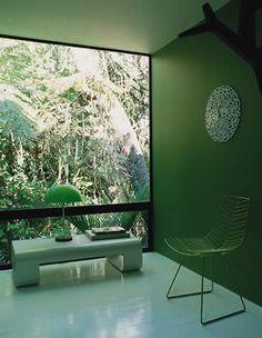 elle decor italia : green inside and outside !