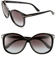b1b2d95a35e Women s Tom Ford  Alicia  59Mm Sunglasses - Shiny Black New Ray Ban  Sunglasses