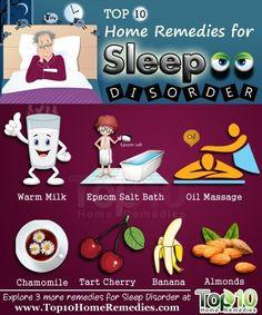 Top 10 effective Home Remedies for Sleep Disorders. #homeremedies #sleep #insomnia