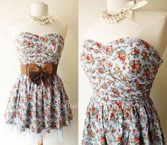 NOVA-luz-azul-Vintage-inspirados-malha-impressao-Floral-saia-sem-alcas-sol-Mini-vestido