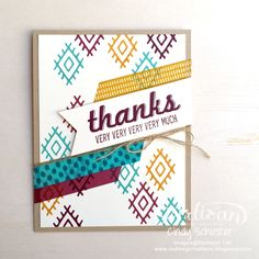 The NEW Bohemian Borders Photopolymer Stamp Set and Designer Washi Tape is eye catching ~ Cindy Schuster
