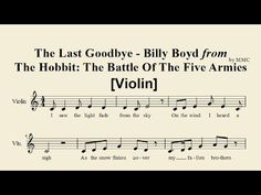 The Last Goodbye - Billy Boyd from The Hobbit 3 (Violin) [Sheet Music by MMC] - YouTube