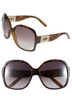 Gucci sunglasses I definitely need new big glasses. These Gucci's are stunning