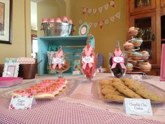Vintage Shabby Chic Milk and Cookies Birthday Party by Decorable Designs.  Includes invitation & decoration printables!