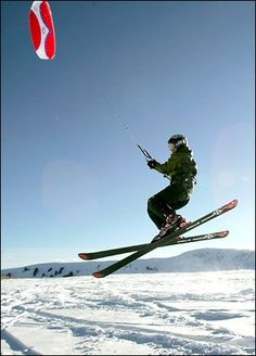Snow Kiting #Skiing -- Find articles on adventure travel, outdoor pursuits, and extreme sports at http://adventurebods.com