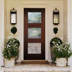 Wood Front Doors, Front Door Entrance, Glass Front Door, Front Door Decor, Farmhouse Front Doors, Best Front Doors, Double Front Entry Doors, Beautiful Front Doors, Entry Doors With Glass