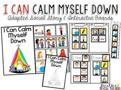 In my autism classroom, I use social stories daily to help teach my students appropriate school behaviors and those unwritten social rules. This product includes my social story for using a calming routine when angry/upset.Click here to see the video preview!There are a ton of resources included in this pack that you can use during a social skills group or one on one with a student that really needs a positive way to calm down.
